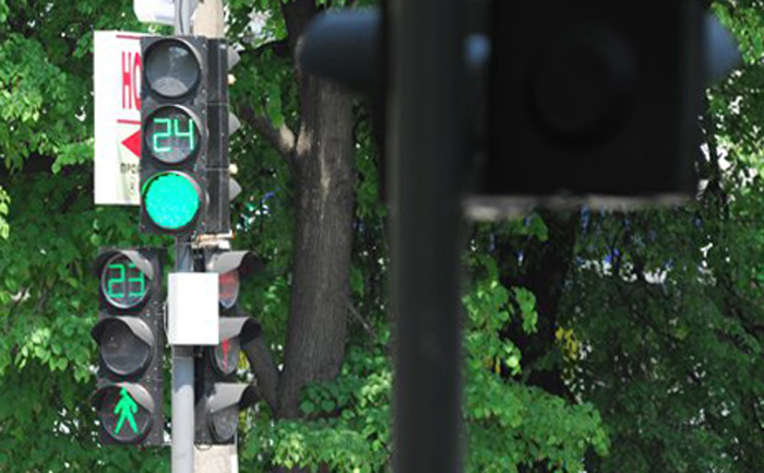 New traffic lights in Sumy